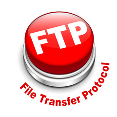 3d illustration of FTP ( File transfer Protocol ) button