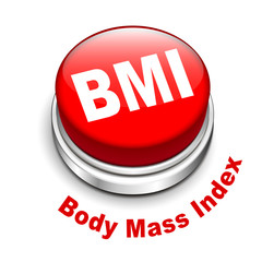 3d illustration of BMI ( Body Mass Index) button
