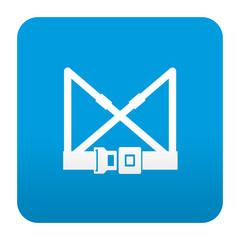 Etiqueta tipo app azul simbolo arnes de seguridad