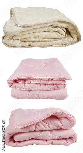 set of pink and beige blankets - 62773634