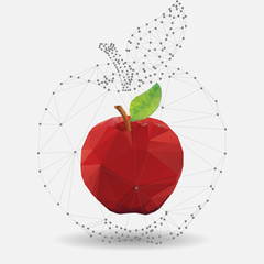 Vector abstract geometric apple in origami style