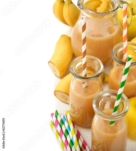 Smoothie of banana and apple