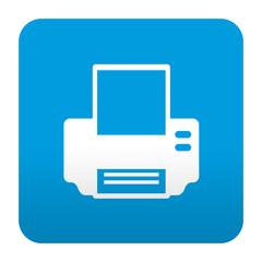 Etiqueta tipo app azul simbolo impresora