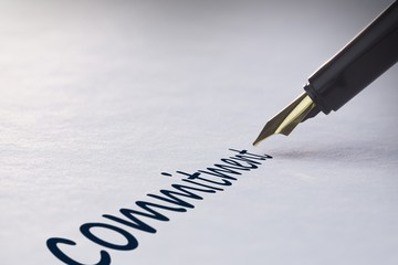 Fountain pen writing Commitment