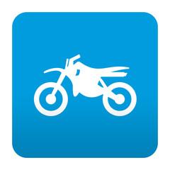 Etiqueta tipo app azul simbolo motocross