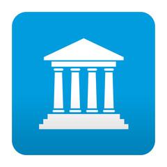 Etiqueta tipo app azul simbolo museo