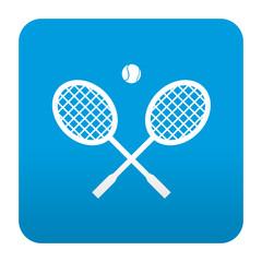 Etiqueta tipo app azul simbolo tenis