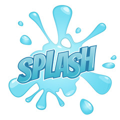 cartoon splash