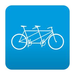 Etiqueta tipo app azul simbolo tandem