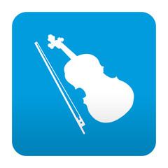 Etiqueta tipo app azul simbolo violin
