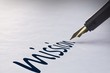 Leinwanddruck Bild - Fountain pen writing Mission