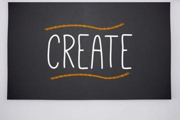Create written on big blackboard