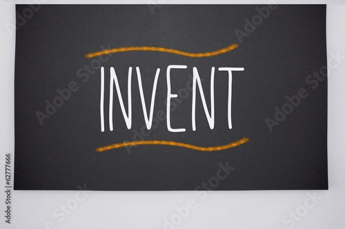 Invent written on big blackboard