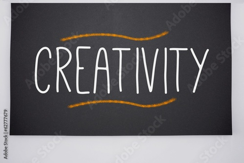 Creativity written on big blackboard