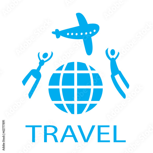 Vector abstract silhouette,people,travel, world, plane
