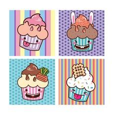 card-set-cupcake-kawaii