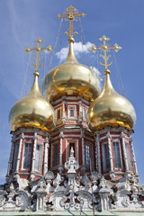 Dome of the Church of the Nativity of Christ. Moscow. Russia