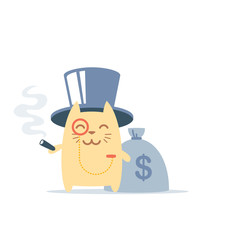 Character rich gentleman in a hat-cylinder and a monocle colorfu