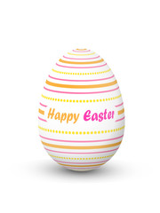 """HAPPY EASTER"" EGG (icon symbol design decorated)"