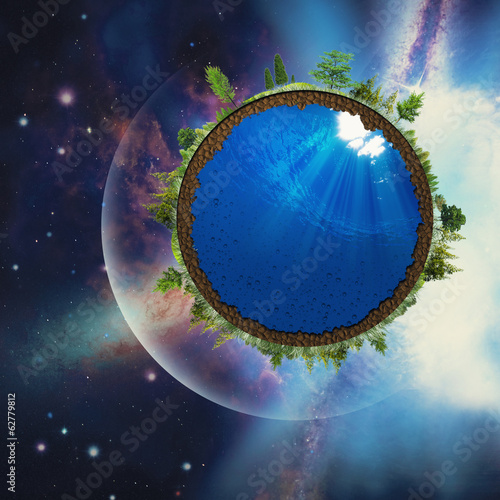 Abstract environmental backgrounds with abstract Earth