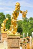 Perseus statue in Petergof Palace poster