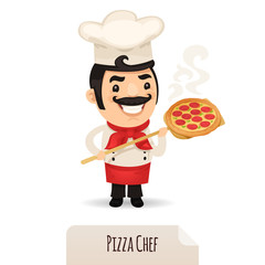 Pizza Chef With Pizza