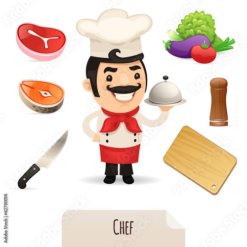 Male Chef Icons Set