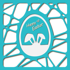 Happy easter cards illustration with easter egg.