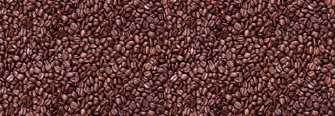 Panorama of roasted coffee beans © g215