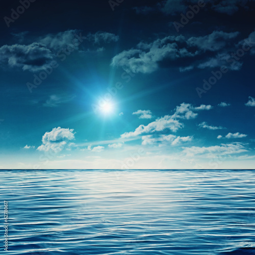 Beauty noon on the summer sea, abstract natural backgrounds