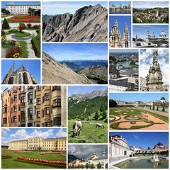 Austria photos - photo collage