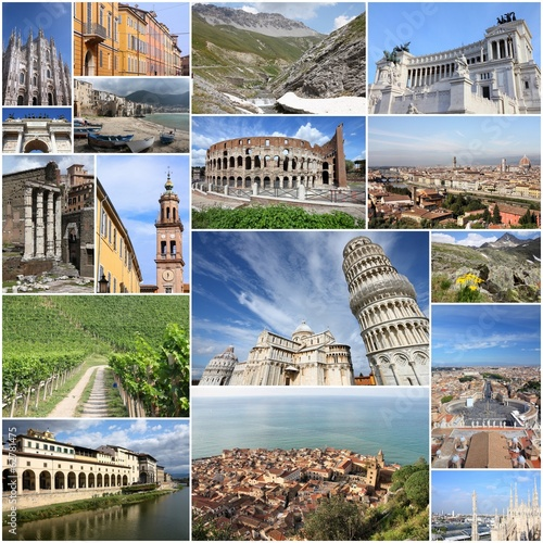 Italy photo collage - Rome, Milan, Pisa, Florence