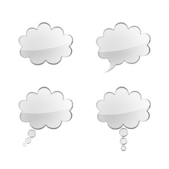 gray speech bubbles set