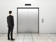 businessman and elevator