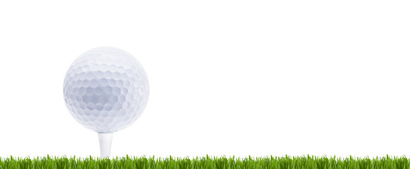 Golfball auf Rasen