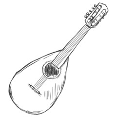 Vector Sketch Mandolin