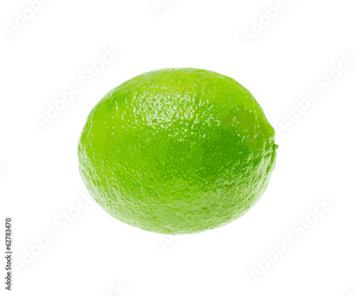 Fresh Green Lime Isolated on White Background. Vector