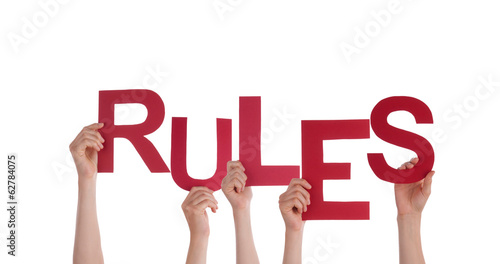 People Holding Rules