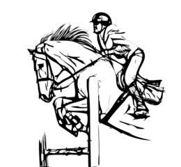 show jumping vector illustration