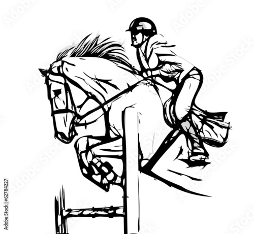 Fototapeta show jumping vector illustration