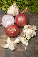 Garlic, Onions, Parsley and Dill