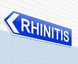Rhinitis concept.