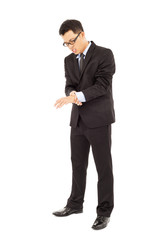 businessman having  wrist pain