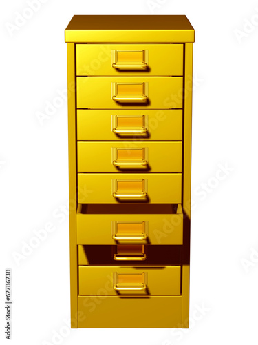 office cabinet in gold