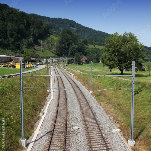 Railroad in Switzerland