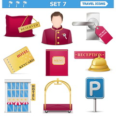 Vector travel icons set 7