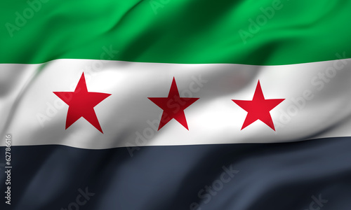 independence flag of Syria