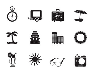 Silhouette Travel, Holiday and Trip Icons
