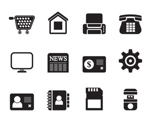 Silhouette Business, office and website icons