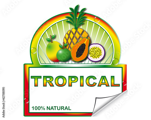 Tropical's label for marketplace